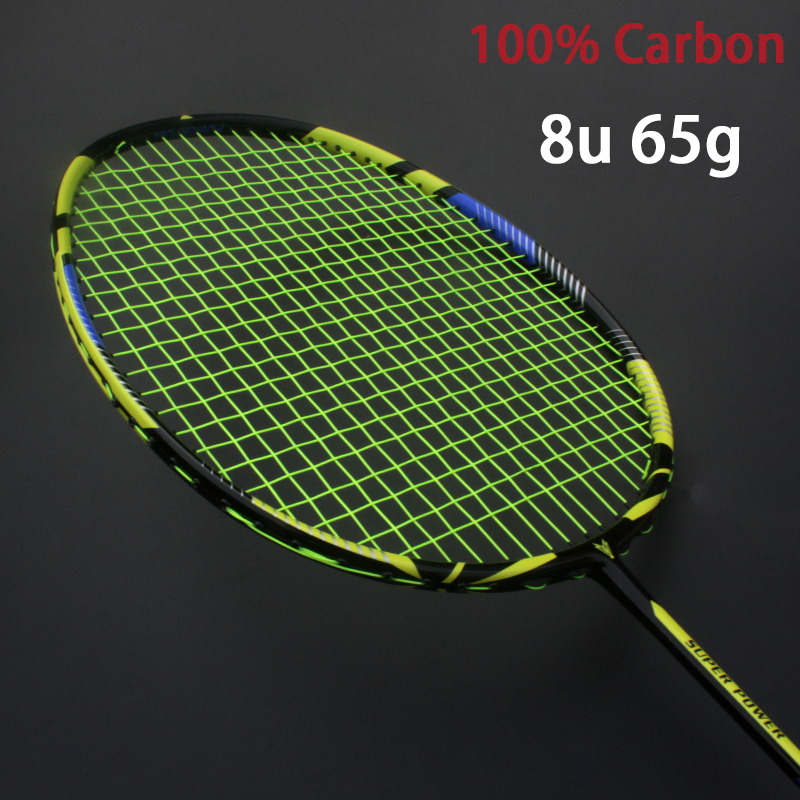Professional Carbon 8U Badminton Rackets Ultra Light Strung Bag Multicolor Z Speed Force Raket String Rqueta Padel 22-30LBS