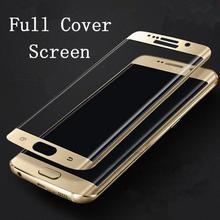 4 Colors New 3D Curved Surface Full Screen Cover Explosion-proof Tempered Glass Film for Samsung Galaxy S7 /S7 Edge