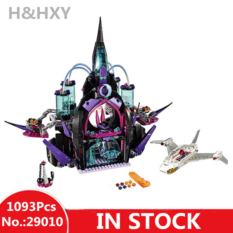 IN STOCK H&HXY 29010 1093Pcs Super hero Eclipso Dark Palace Girl LEPIN Building Block Compatible 41239 Brick Toy Christmas gift lepin 29010 1093pcs genuine superhero series the eclipso dark palace set educational building blocks bricks toys friends castle page 3