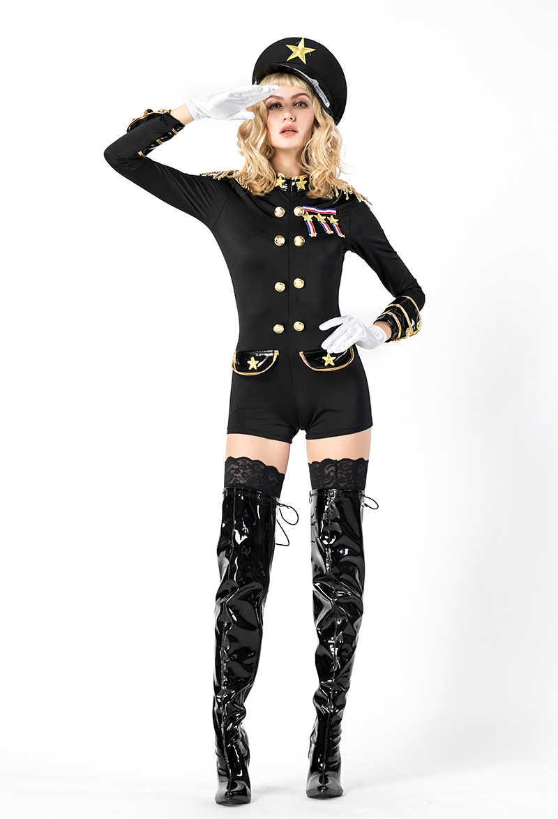 Сексуальный черный полицейский костюм для взрослых на Хэллоуин и для косплея нарядное платье для женщин костюм для вечеринки