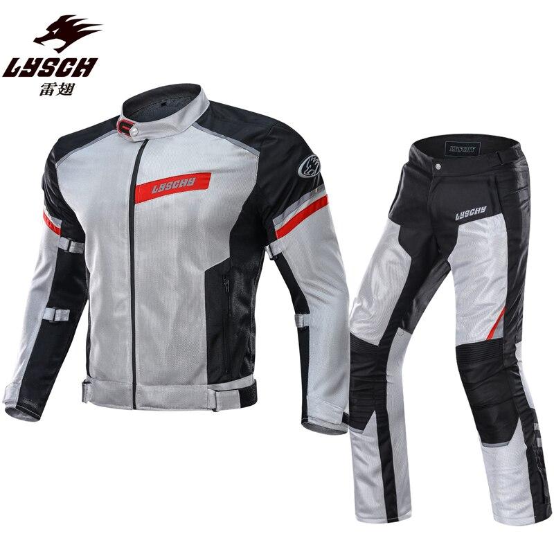 LYSCHY Motorcycle Jacket Pants Waterproof Motocross Riding Jacket Mesh Breathable Professional Jacket Moto Suit Jaqueta XXXL
