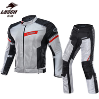 LYSCHY Motorcycle Jacket & Pants Waterproof Motocross Riding Jacket Mesh Breathable Professional Jacket Moto Suit Jaqueta XXXL