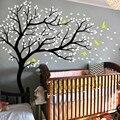 Наклейки на стену  большие ветки и птицы для детской комнаты