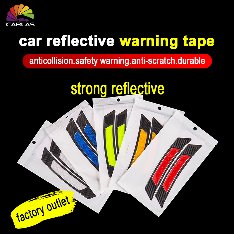 2 Pieces/Pack Car Door Bumper Sticker Warning Safety Mark Anti Collision Auto Side Anti scratch Strip Car Reflective Strip-in Car Stickers from Automobiles & Motorcycles