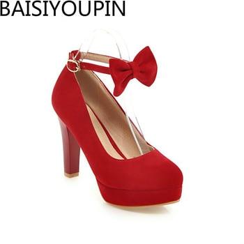 ef989eff678 2018 новые модные красные туфли на высоком каблуке