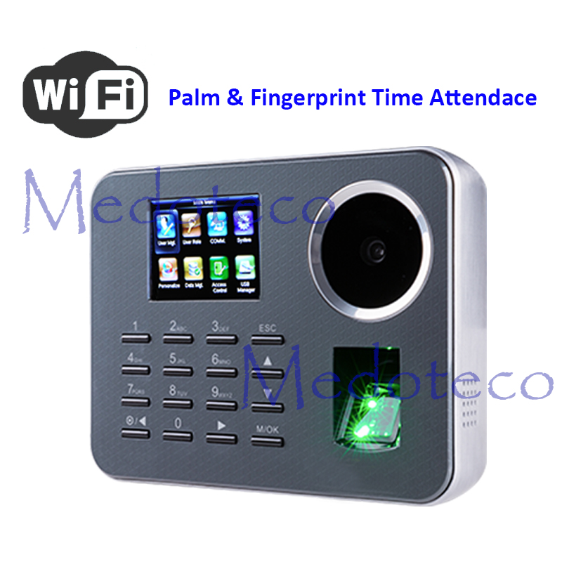 ZK WIFI Biometric Palm Time Attendance tcp/ip BioID Fingerprint Time Recording Free software image
