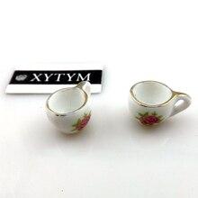 50 шт Керамические Подвески в китайском стиле для ювелирных изделий, Керамические Подвески 16x11x9 мм с цветочным принтом
