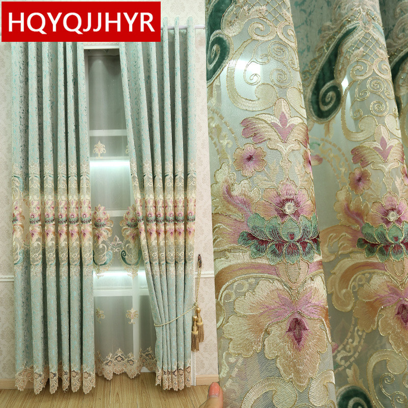 European Luxury Villa Embroidered Blackout Curtains For Living Room Royal Royal Curtains For Bedroom Window Curtain Kitchen