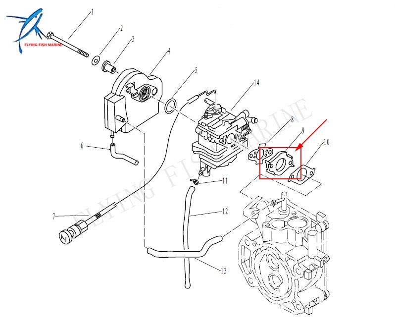 Outboard Engine T3 6 04000500 Carburetor Assembly For Parsun Hdx 2
