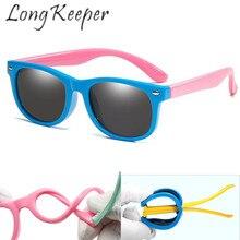 Детские солнцезащитные очки, длинные поляризационные очки для мальчиков и девочек, UV400