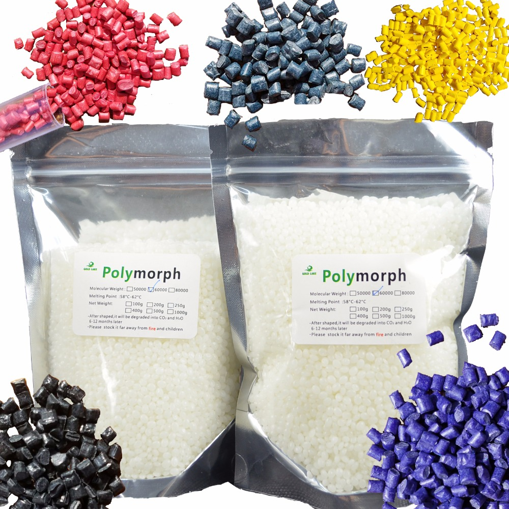 200g PCL and 1g color kits Moldable Plastic Instamorph Shape Shifter Thing Plastimake Polymorph Thermoplastic for DIY hobbyis