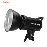 Godox LED Video Light SL 60W 5600K White LED Video Light Continuous Light Bowens Mount for Studio Video Recording