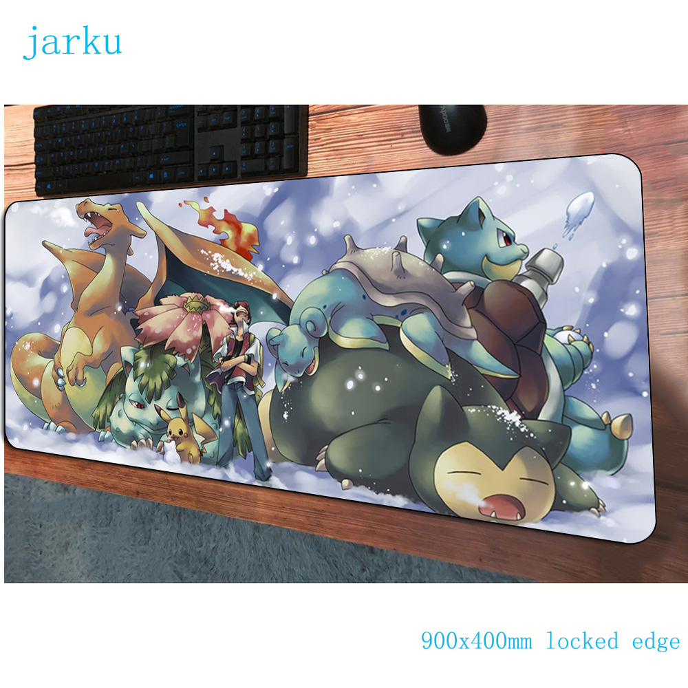 pokemons mouse pad large pad to mouse notbook computer mousepad locked edge gaming padmouse gamer to laptop keyboard mouse mats 1
