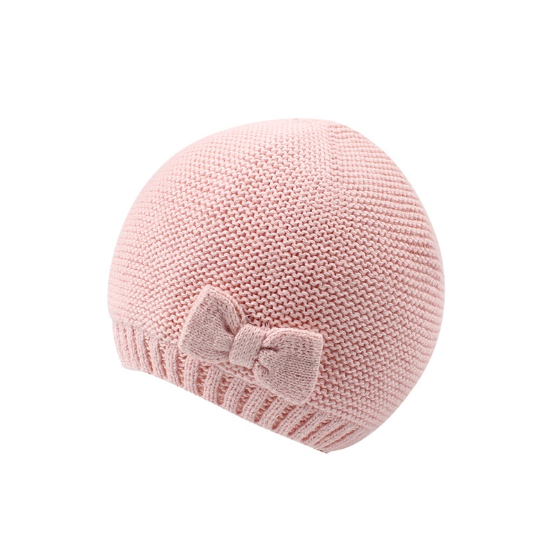 Cute Baby Girls Beanie Hat Cotton Knitting Hat For Newborn Girls Fashion Bow Infant Toddler Baby Hat Autumn Baby Girls Clothing