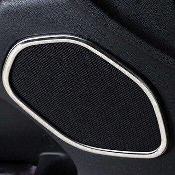 4ピース/セットabsクロームメッキドアスピーカーリング装飾トリム車のインテリア装飾用ジープグランドチェロキー2011-2016