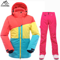 SAENSHING Ski Suit Women Waterproof 10K Snowboard Jacket Ski Pants Breathable Thermal Skiing Snowboarding Suits Winter Snow Sets
