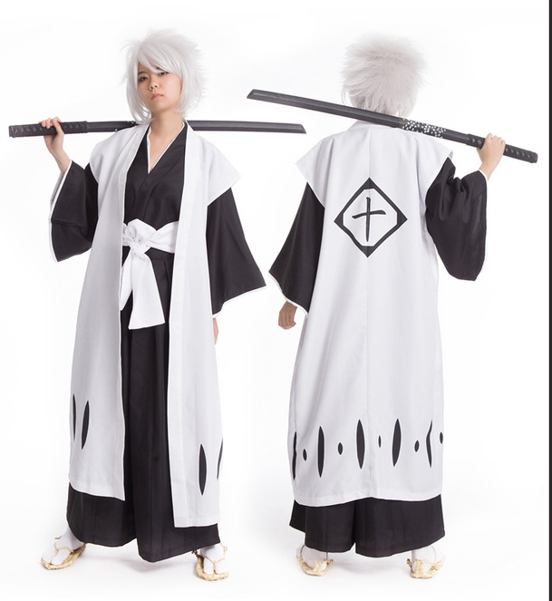 Death cosplay Hitsugaya Toushirou costumes Ten dead tyrants clothes + ten captain Dead Trench halloween party cos suit for adult image