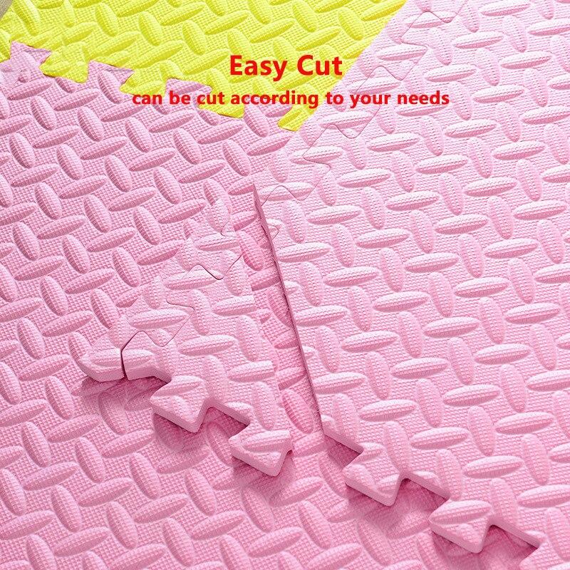 JCC feuille motif Puzzle EVA mousse bébé tapis de jeu/enfants tapis tapis de verrouillage exercice plancher pour enfants carreaux 60*60*1.2 cm - 3