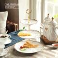 European Dried Fruit Plate Snack Plate Two Or Three Layers Fruit Basket Skewer Ceramic Birthday Cake Snack Rack