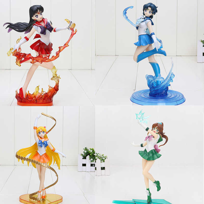 Super Figura Sailor Moon Mars sailor moon Venus Mercúrio Zero PVC Action Figure Toys