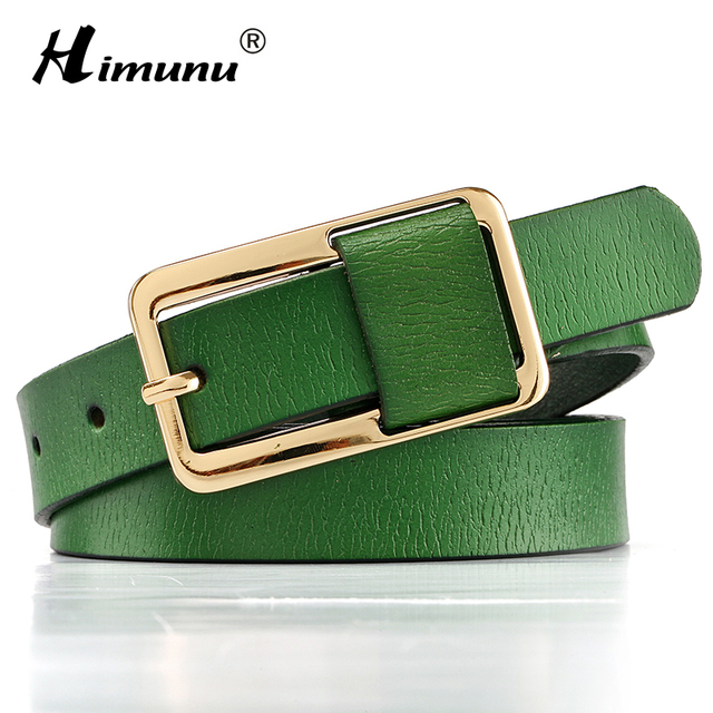 Hot Sale Brand Luxury Pin buckle 100% cowhide Female Belt for Women Hip-Hop Genuine Leather Jeans Girdles Belts Candy 8 colors 5