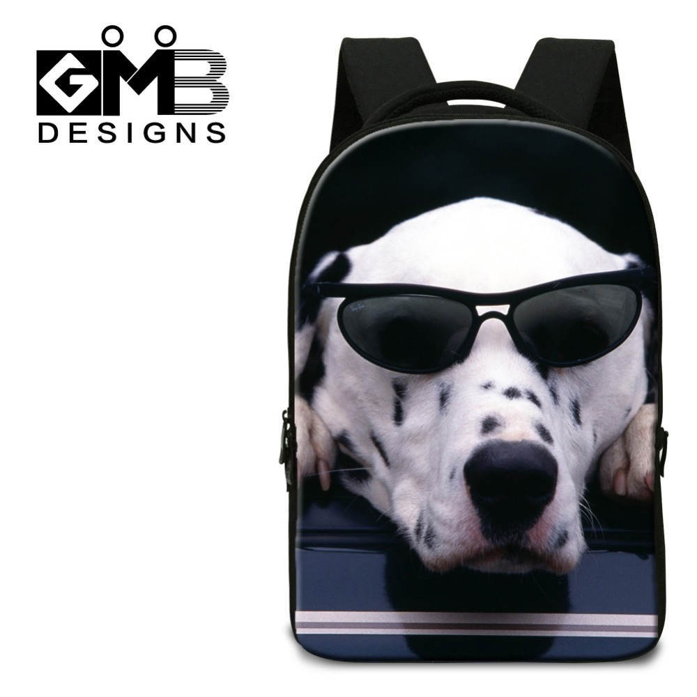 ФОТО Cute Dog Print School Backpacks with laptop compartment,College Students Mochila,Computer back pack for boys,girls school bags