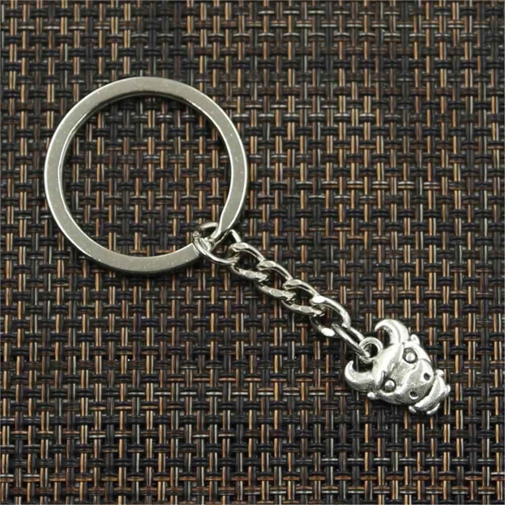 ใหม่พวงกุญแจ 12x15 มม.Bull OX จี้ DIY รถ Key CHAIN ผู้ถือแหวนของที่ระลึก Keyring เครื่องประดับของขวัญ