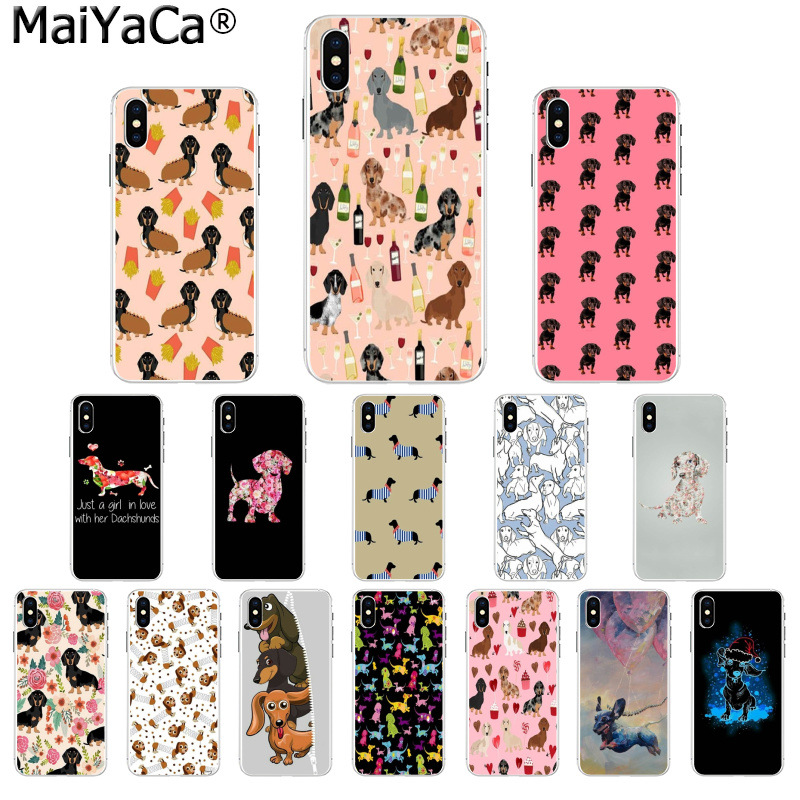 Maiyaca Dachshund Doxie Flower Dog Puppy Novelty Fundas Phone Case Cover For Iphone X Xs Max 6 6s 7 7plus 8 8plus 5 5s Xr Activating Blood Circulation And Strengthening Sinews And Bones Phone Bags & Cases Cellphones & Telecommunications