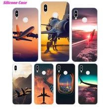 Silicone Phone Case aircraft airplane Fashion for Huawei P Smart 2019 Plus P30 P20 P10 P9 P8 Lite Mate 20 10 Pro Nova 3i Co