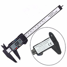 Black/Silver Electronic Vernier Caliper LCD Digital Caliper Micrometer Gauge For Measurement Tool 6 Inch 150mm недорого