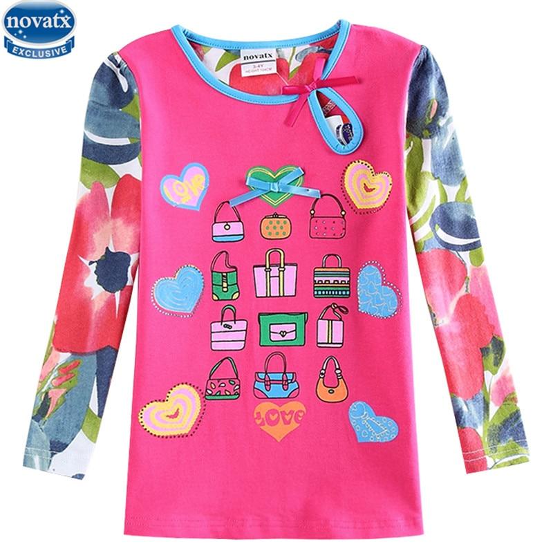 Розничная продажа Футболка для девочек новинки для детей bbay Одежда для девочек Хлопков ...