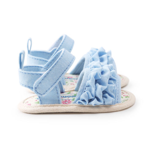 2018 Summer Fashion Walking Shoe Infant Baby Girls Soft Sole Sandals Toddler Summer Shoes Ruffled 6-18M