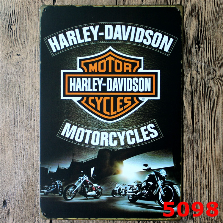 20x30cm HARLEY  MOTOR   retro metal tin signs home decorative vintage Iron painting for bar ktv  wall hanging  sticker