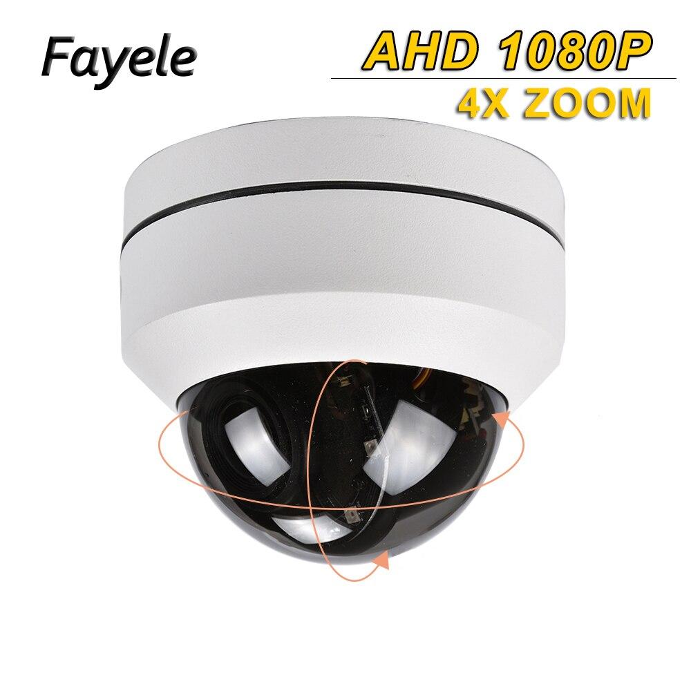 CCTV Intérieur 1080 p 2.5 MINI Dôme PTZ Caméra SONY IMX323 AHD TVI CVI CVBS 4IN1 2MP Pan Tilt 4X Zoom Jour Nuit IR 50 m OSD MENU