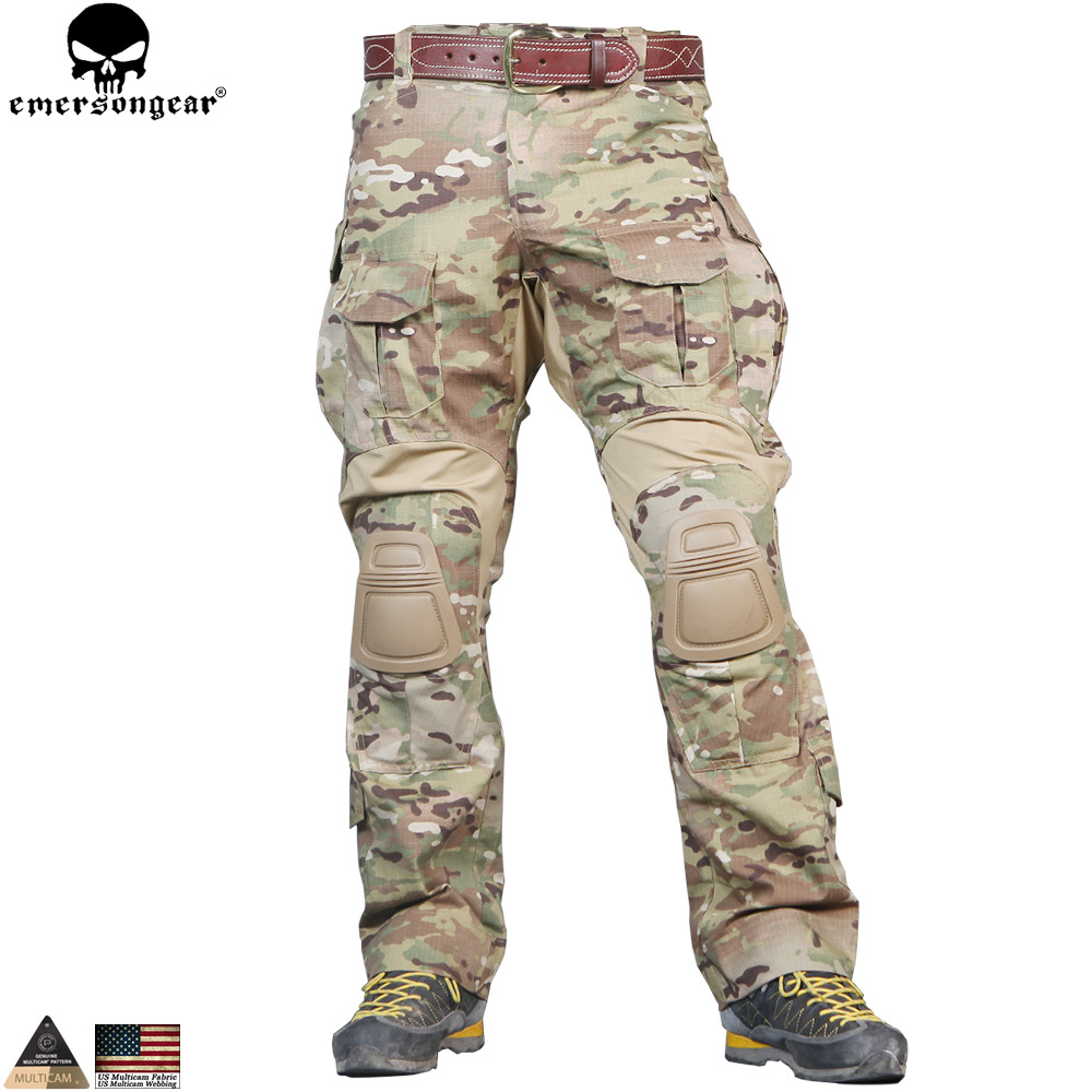 EMERSONGEAR G3 Camouflage Pants Military Army Hunting Pants Tactical EMERSON Combat Trousers with Knee Pads Multicam Pants купить