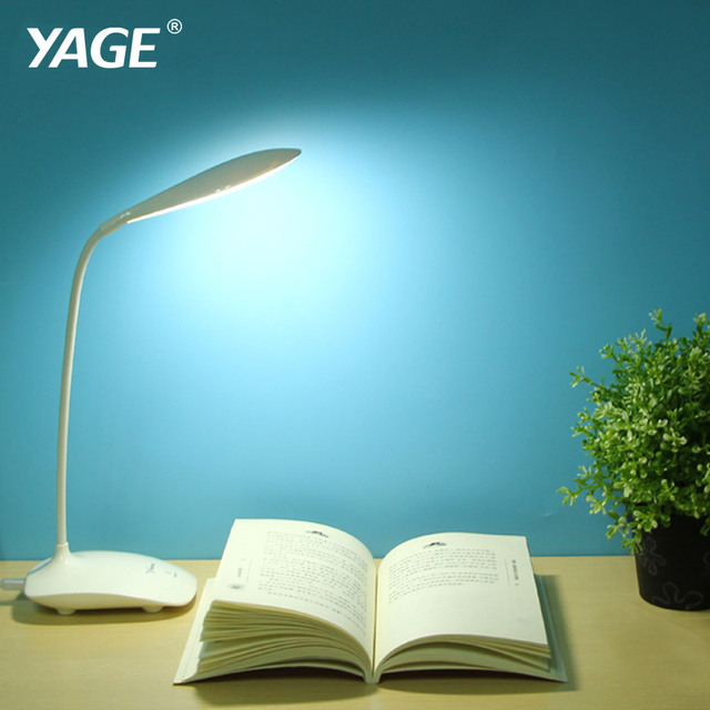 YAGE Led Table Lamp USB Cahrging Book Desk reading Light Night light for study Battery  Non-limit dimming mode/22 pcs SMD LED
