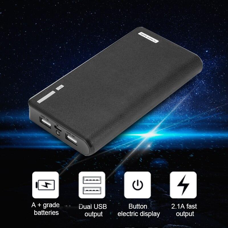 imágenes para Banco de la energía 5000 mAh LED Dual USB Cargador de Batería de Reserva Externo para el Teléfono Móvil Fácil de llevar y Cargar En Cualquier Momento y en cualquier lugar