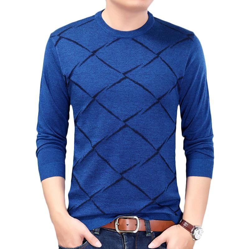 Sweater Men Autumn Winter O-Neck Mens Cotton Soft Warm Slim Fit Pullover Men Knitwear Comfortable Sweaters For Men Size M-3XL