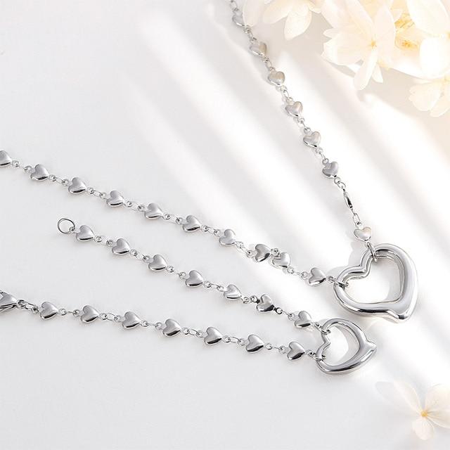 Kalen ensembles de Bijoux de mode pour femmes tous les colliers et Bracelets de coeur ensembles Bijoux Femme Bijoux de mariage chérie cadeaux romantiques