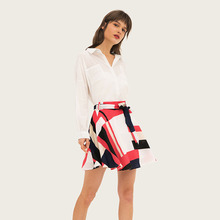 AcFirst Summer Bohemian Women Fashion Sexy Skirt High Waist Mini Plaid Long Skirts Casual A-Line Sashes Lanon Plus Size