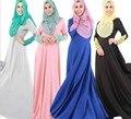 2016 Bordado Adultos Túnica Abaya Musulmán Ropa Islámica Para Las Mujeres Caftán Chilaba Musulmane Moda Vestido Largo