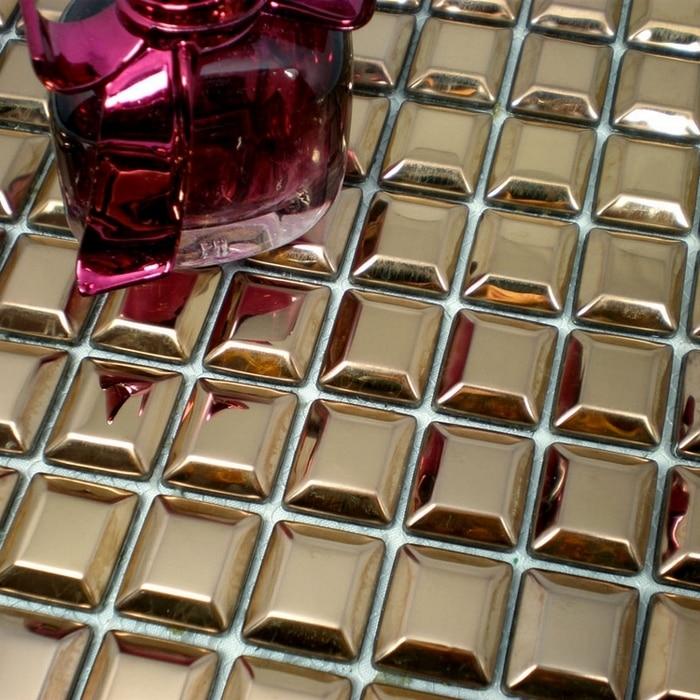 Golden Pyramid Design Stainless Steel Metal Mosaic For House Renovation  Kitchen Backsplash Tiles Bathroom Shower Tiles