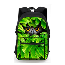 Fashion 2017 Colorful Women Owl Leopard Backpack 3D Animal Print Girls School Bagpack Female Ladies Tourism Rucksack