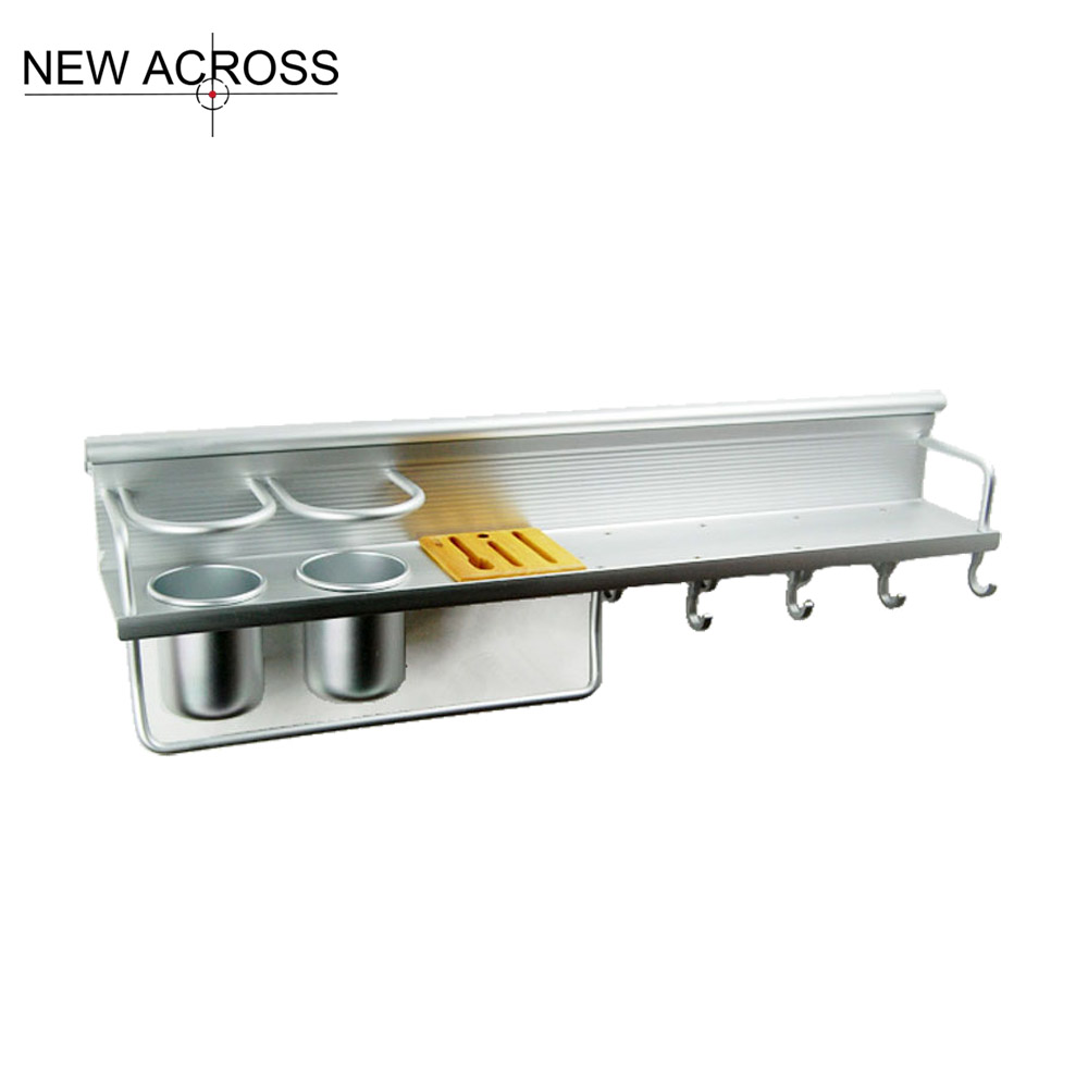 Gohide 1pcs Aluminum Rack Shelves Kitchen Tools Holder font b Knives b font Shelf Kitchen Seasoning