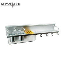 Gohide 1pcs Aluminum Rack Shelves Kitchen Tools Holder Knives Shelf Kitchen Seasoning Bottles Rack Holder Utensils Racks