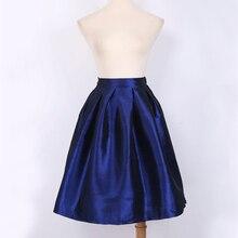 Vintage Mini skirt Womens High Waist Women's Pleated skirt Fashion tutu elegant ladies Jupe Femme Saias Faldas