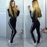 Newest Winter Tracksuit Tops Pullover Hooded Sweatshirts And Pants Two Pieces Sets Suits Tracksuits Female Clothing