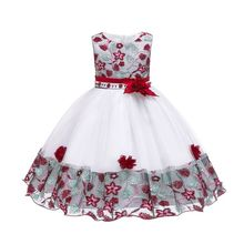 Girls Summer Dresses For Elegant Princess Dress Flower Party Wedding Easter Carnival Costume