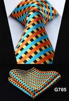 "Polka Dot Check Plaid Floral 3.4"" Silk Jacquard Party Wedding Woven Men Tie Fashion Designers Necktie Handkerchief Set #G7  5"