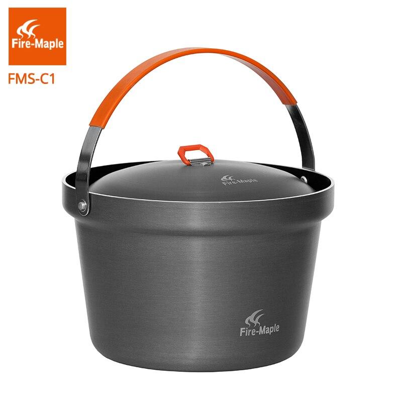 Feu-érable fête riz cuisinier 3L Portable Pot en plein air Camping cuisson pique-nique ustensiles de cuisine feu 1140g FMC-C1